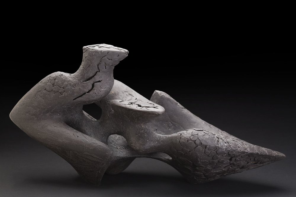 Rebecca Buck Wyvern V, 2015 Ceramic 10.5 x 20 x 10 inches 26.7 x 50.8 x 25.4 cm RBk 1