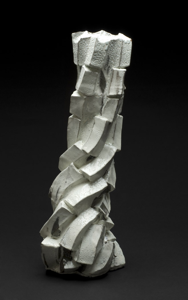 Shozo Michikawa Tall Pot, 2011 Stoneware with Kohiki glaze 19.5 x 7 x 6 inches 49.5 x 17.8 x 15.2 cm SMi 12