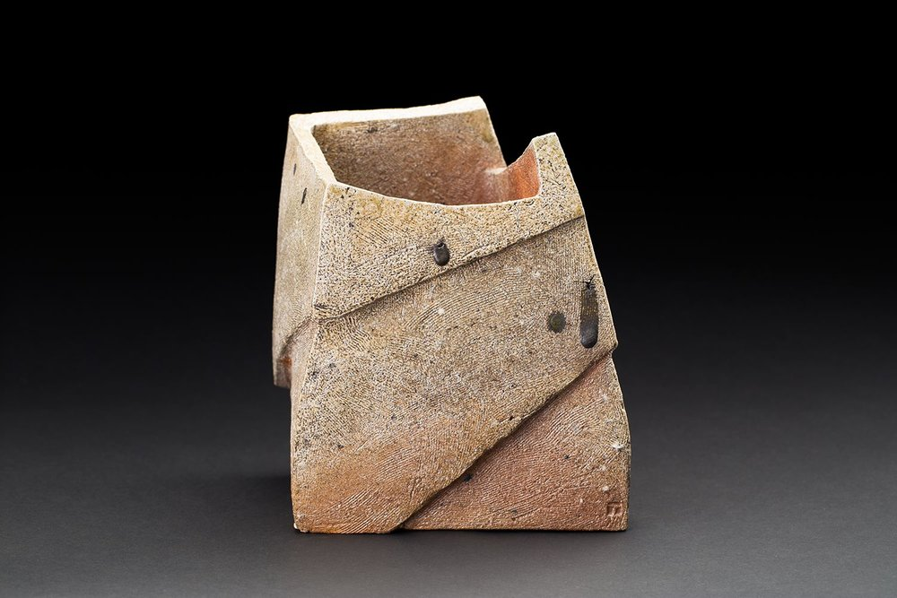 Tim Rowan Untitled, 2016 Woodfired ceramic 9 x 6 x 6 inches 22.9 x 15.2 x 15.2 cm TR 163