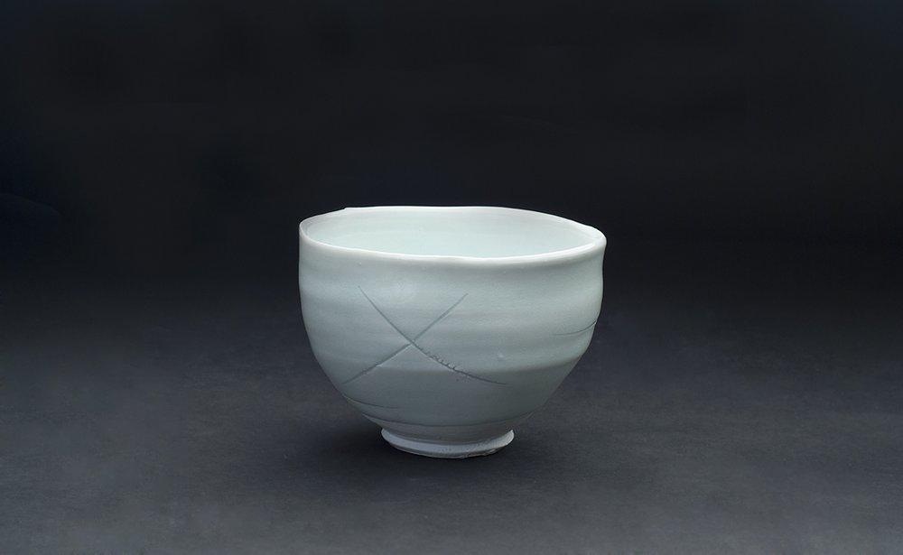 Ryoji Koie Chawan, 2010 Porcelain 5 x 4.75 x 3.5 inches 12.7 x 12.1 x 8.9 cm RKo 20