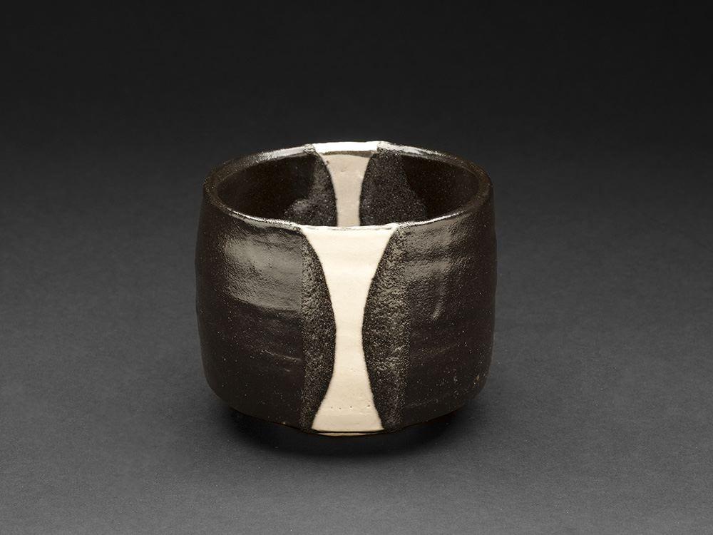 Richard Milgrim Kuro Oribe Chawan, 2013 Ceramic 3.5 x 4 x 4 inches 8.9 x 10.2 x 10.2 cm RMi 8