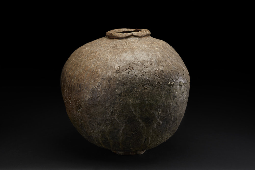 Mike Weber Tsubo, 2016 Ceramic, high-fired in anagama wood-fire kiln for multiple days, shino glazed with natural forming ash glaze 17 x 15 x 16 inches 43.2 x 38.1 x 40.6 cm MWe 20