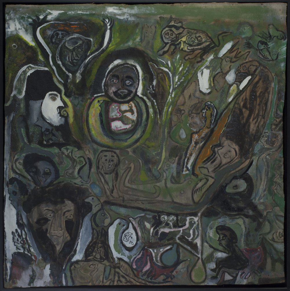 Leonard Daley Living in Green, 1993 Mixed media on canvas 36 x 36 inches 91.4 x 91.4 cm LE 8
