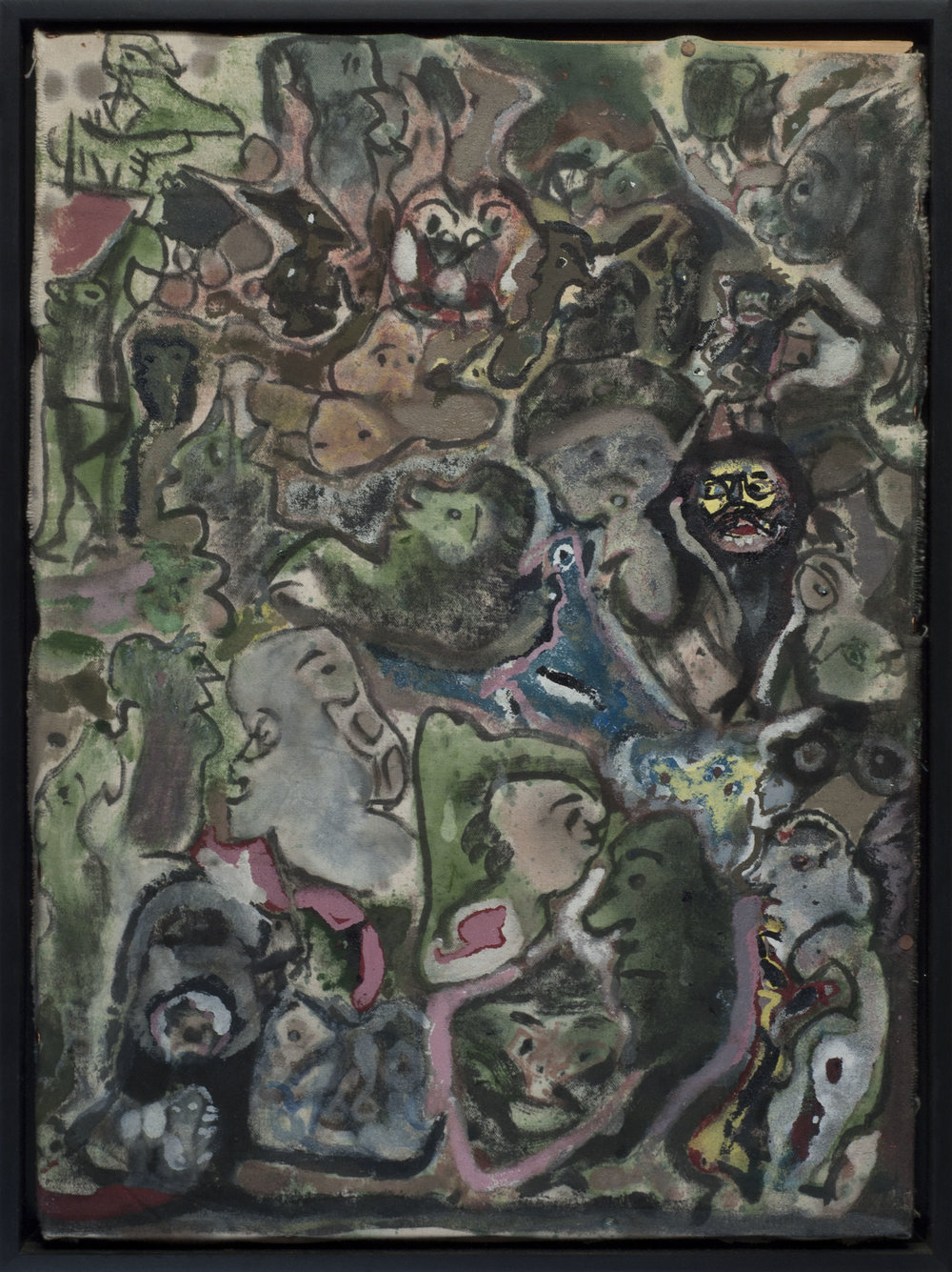 Leonard Daley Yellow Face, 1992 Mixed media on canvas 21.5 x 15.5 inches 54.6 x 39.4 cm LE  39