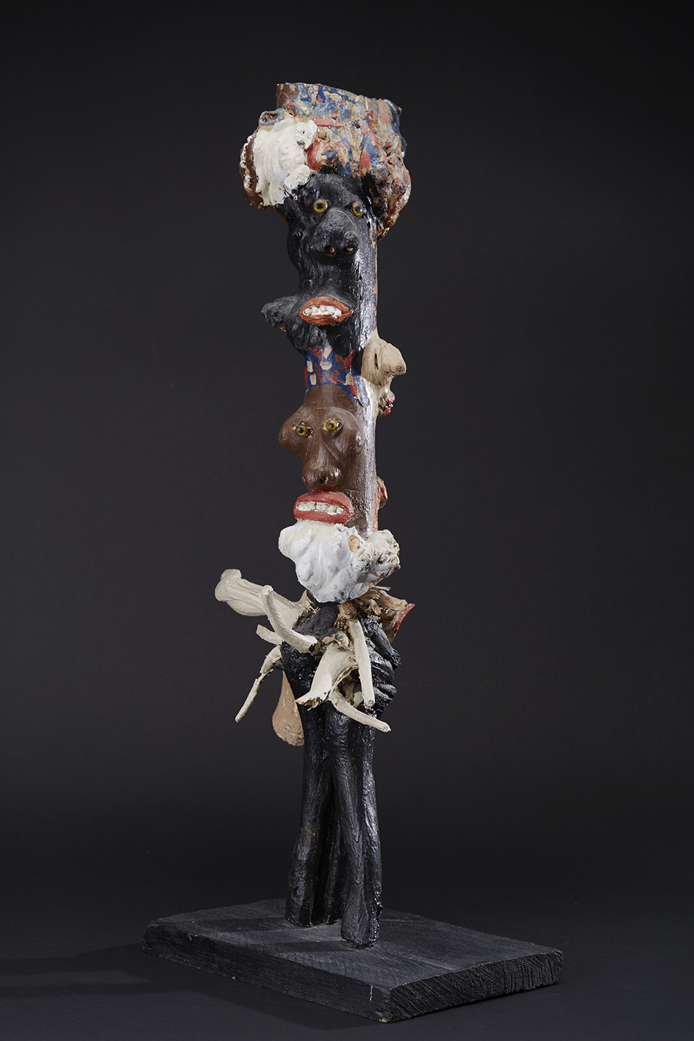 Bessie Harvey Many Faced Totem, 1986 Mixed media 27 x 14 x 8.5 inches 68.6 x 35.6 x 21.6 cm BH 94