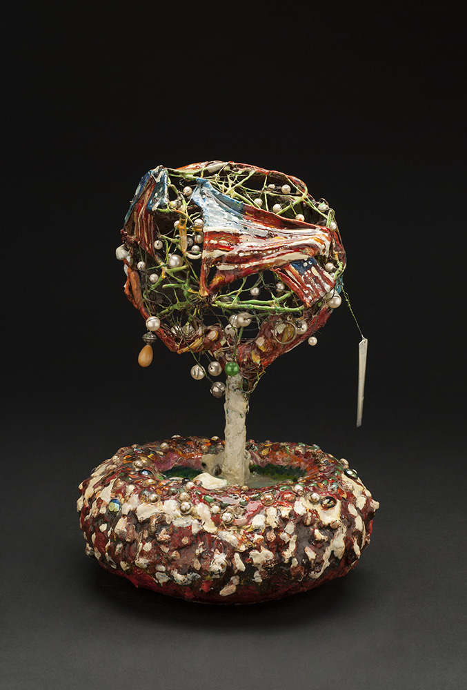 Kevin Sampson Fourth of July, 2001 Mixed media 11.25 x 8 x 8 inches 28.6 x 20.3 x 20.3 cm SK 126