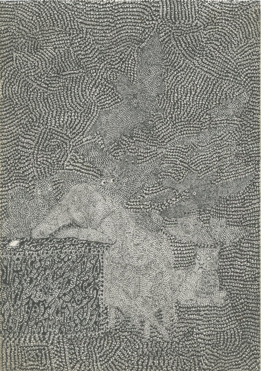 Franklin Goya's Nightmare, 2006 Ink on paper 5.71 x 4.02 inches 14.5 x 10.2 cm Fra 6