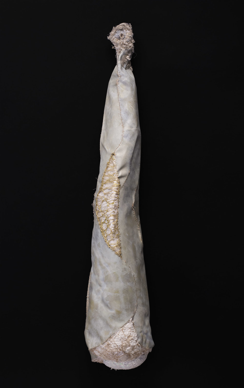 Sandra Sheehy Untitled, 2014 Mixed media/fabric 43 x 10 x 9 inches 109.2 x 25.4 x 22.9 cm SSe 86