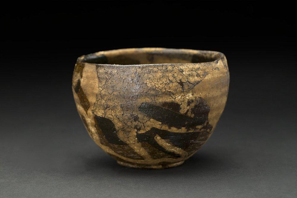 Akihiro Nikaido    Chawan  , 2016 Ceramic with lacquer 3 x 4 x 4 inches 7.6 x 10.2 x 10.2 cm ANk 51