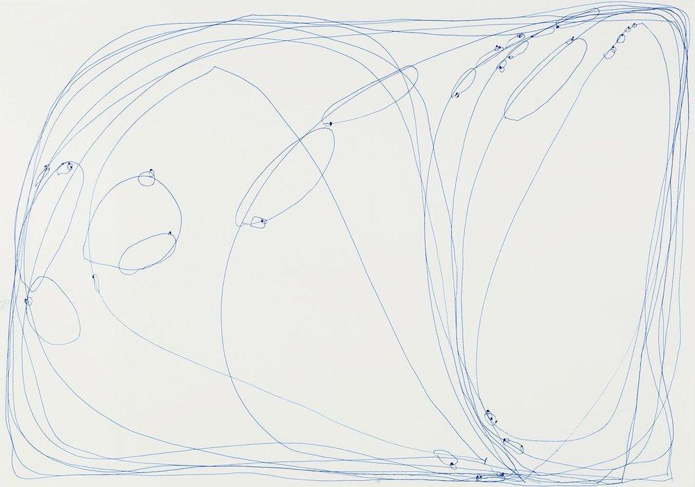 Eiichi Shibata    Sekken no Se  , -2002 Pen, paper 15 x 21.25 inches 38.1 x 54 cm ESh 1