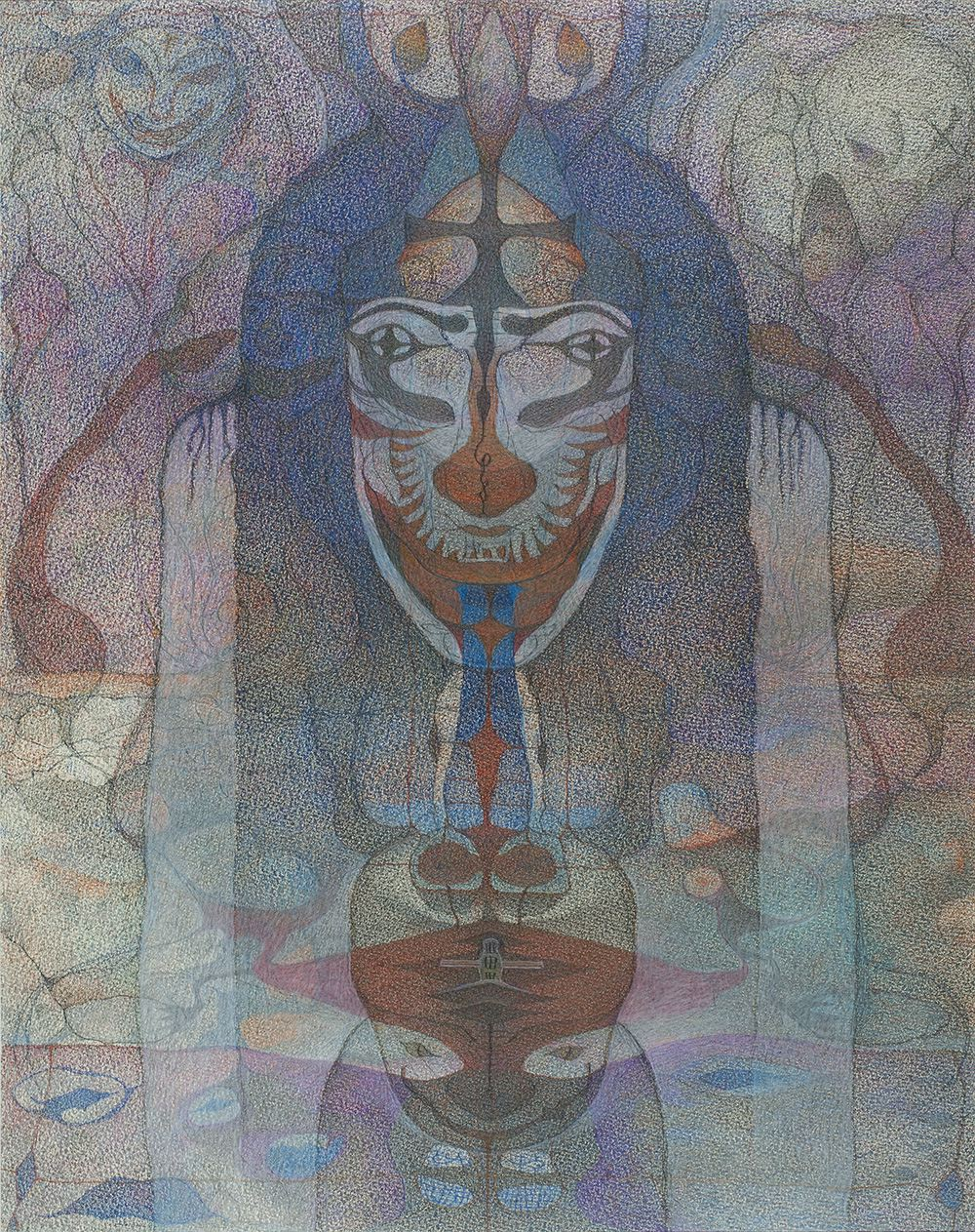 M'onma    Untitled  , 2006 Colored pencil on paper 22.44 x 17.72 inches 57 x 45 cm IMo 72
