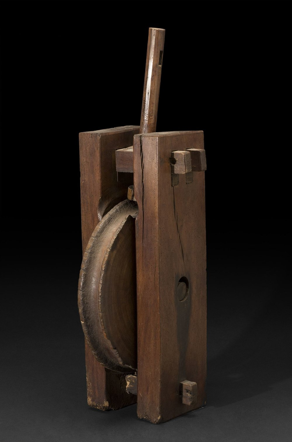 Japan    Well Wheel  , Early 20th Century Wood 33 x 14 x 10.5 inches 83.8 x 35.6 x 26.7 cm JA 648
