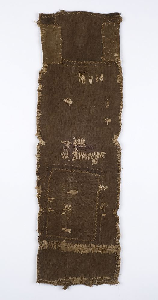 Japanese Textiles    Sakabukuro  , Pre-WW II Persimmon juice dye/cotton 27.5 x 8 in(69.8 x 20.3 cm) JTex 7