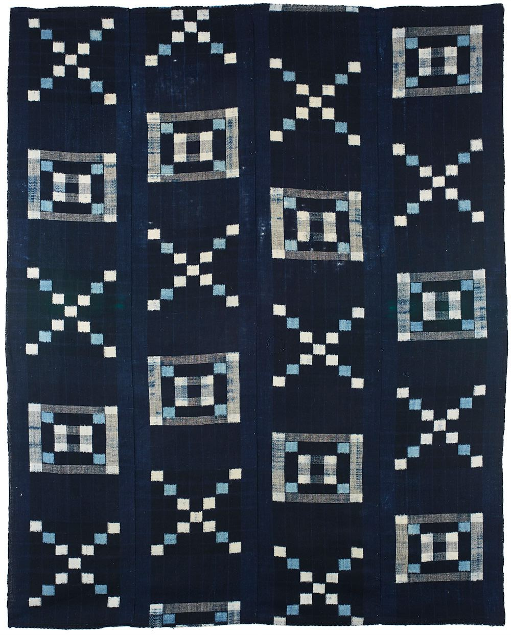 Japanese Textiles    Futon Cover  , 20th century Indigo dye/cotton 62.5 x 50 in(158.8 x 127.0 cm) JTex 71