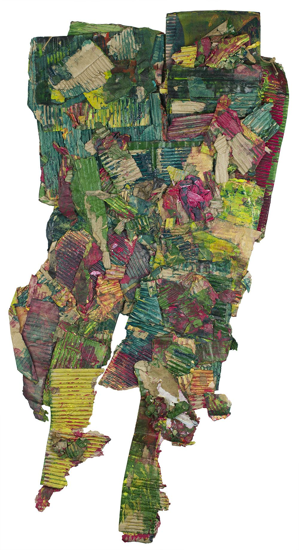 Katsuo Tokunaga    Plants  , 2015 Collage 48 x 20 inches 121.9 x 50.8 cm KaT 1