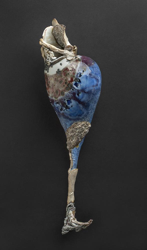 Kentaro Kawabata    I-dori  , 2012 Porcelain 15 x 4.25 x 3.5 inches 38.1 x 10.8 x 8.9 cm Kbat 20