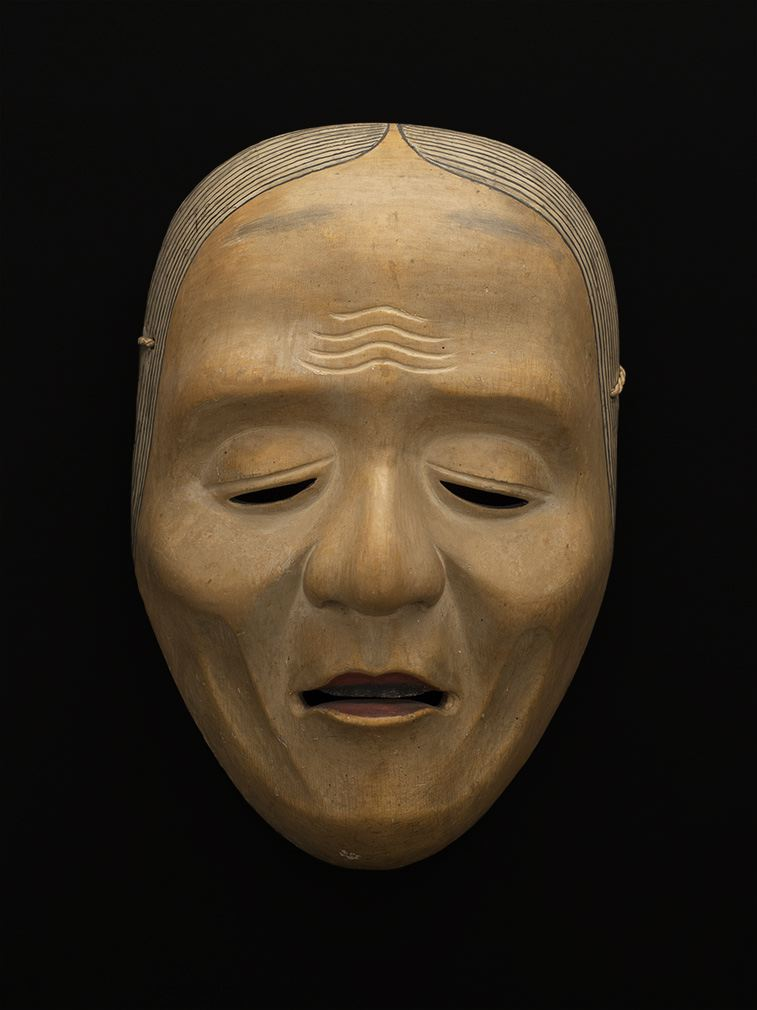 Masks    Japan - Noh Mask, Old woman, Komachi Rojo type  , Early 19th C. Lacquered wood 8.25 x 5.5 x 3 inches 21 x 14 x 7.6 cm M 58