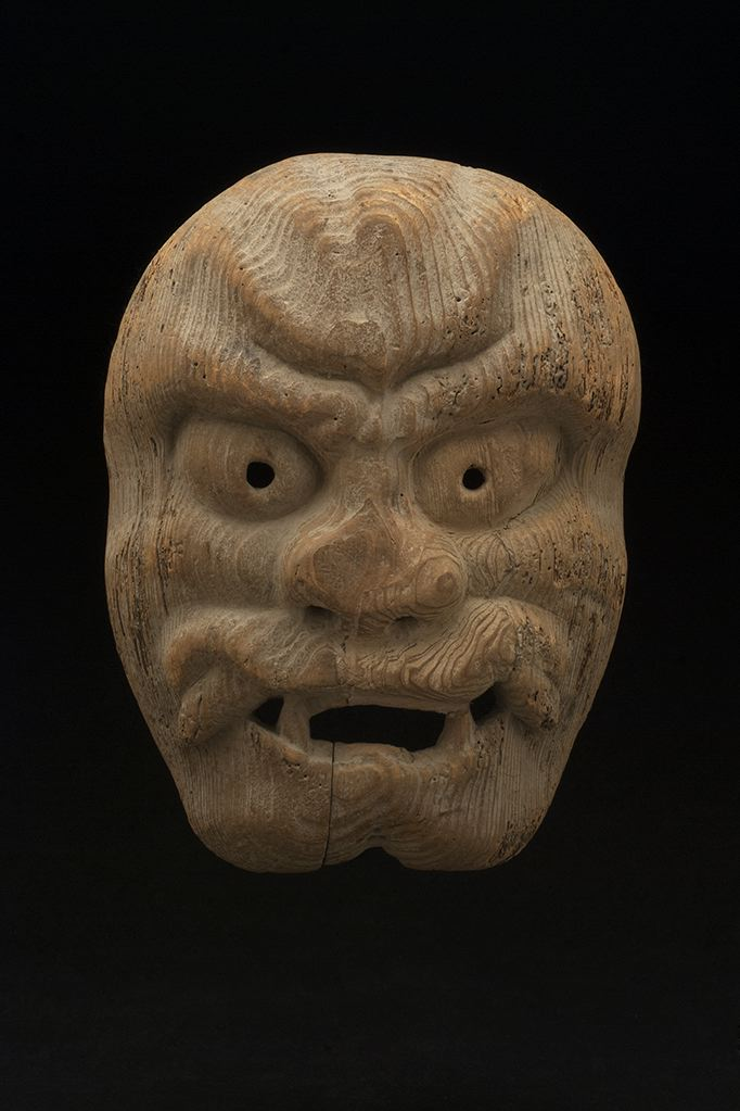 Masks    Japan - Shrine Mask  , 19th C. Wood 9.5 x 7 x 2.25 inches 24.1 x 17.8 x 5.7 cm M 112s
