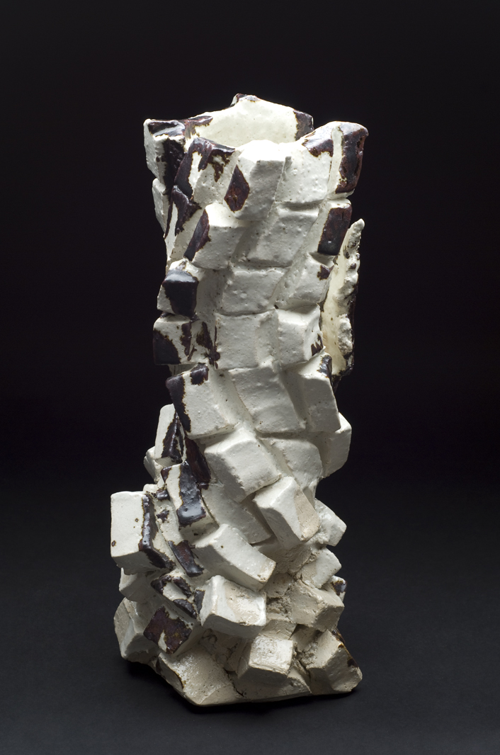 Shozo Michikawa    Square Pot  , 2012 Stoneware with Kohiki glaze 13.5 x 4.5 x 4.5 inches 34.3 x 11.4 x 11.4 cm SMi 32