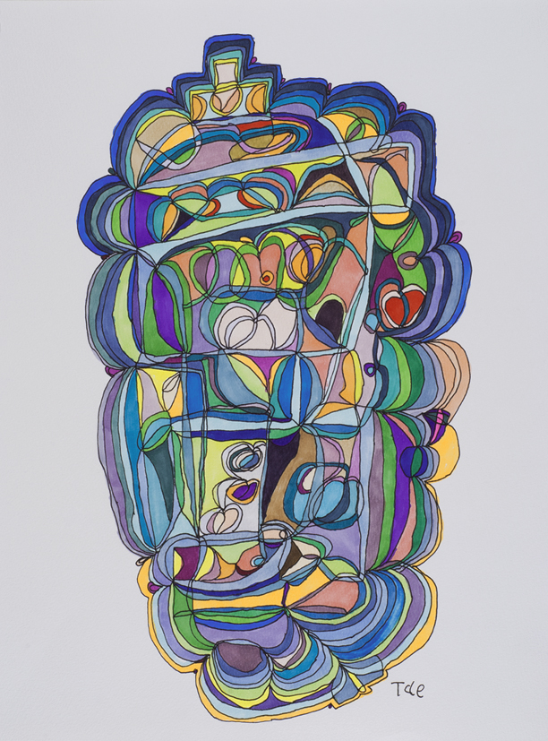 Tae Takubo    Untitled  , 2012 Marker on paper 14.57 x 11.22 inches 37 x 28.5 cm TTk 3
