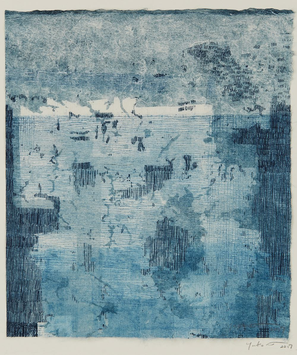 Yuko Kimura    Ghost Mushikui  , 2017 Etching, monotype on mulberry handmade paper 8 x 7.25 inches 20.3 x 18.4 cm YuK 57