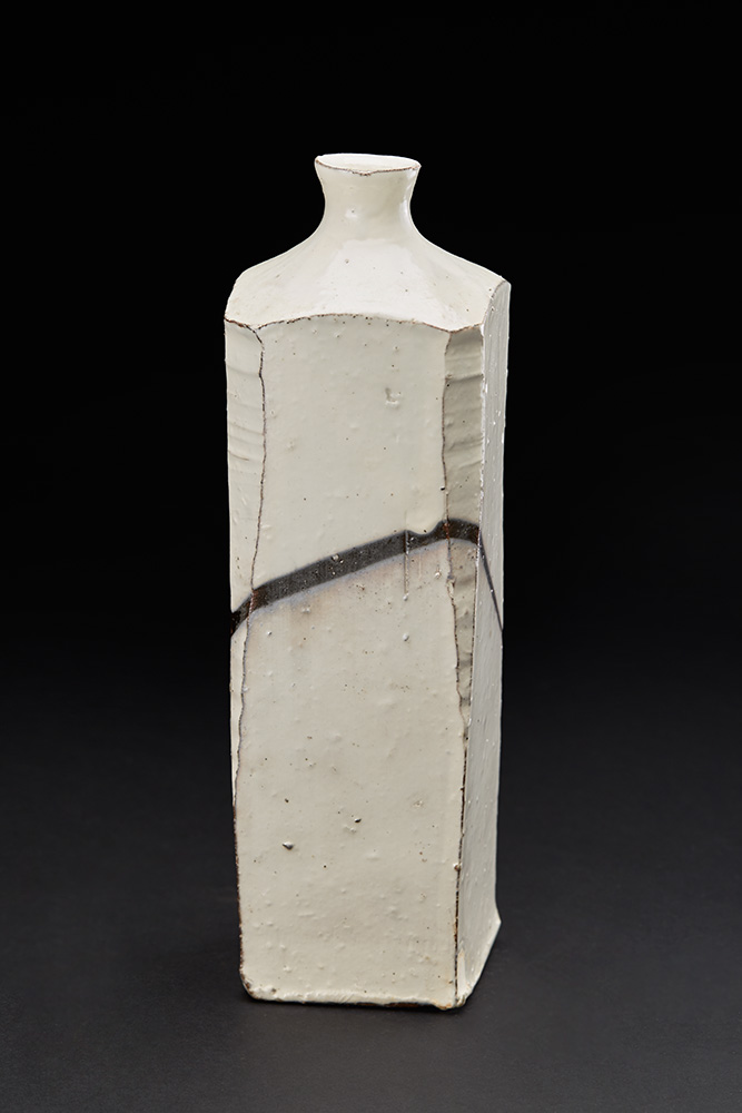 Kai Tsujimura    Kohiki Vase  , 2008 White-slip kohiki 11.5 x 3.5 x 3.5 inches 29.2 x 8.9 x 8.9 cm TSK 5