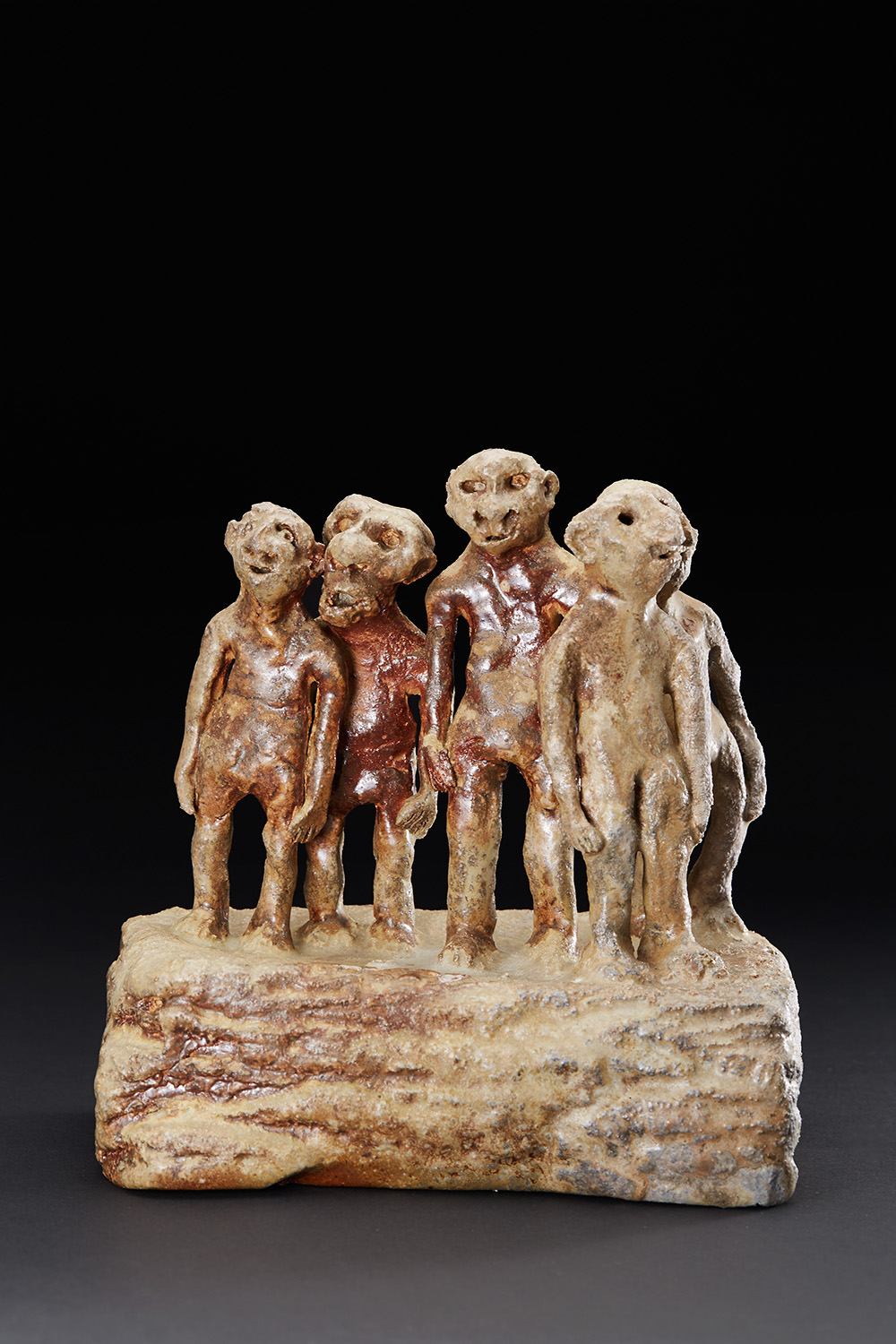 Chrissy Callas    Crowd  , 2013 Ceramic 9.25 x 9 x 6 inches 23.5 x 22.9 x 15.2 cm CCa 31