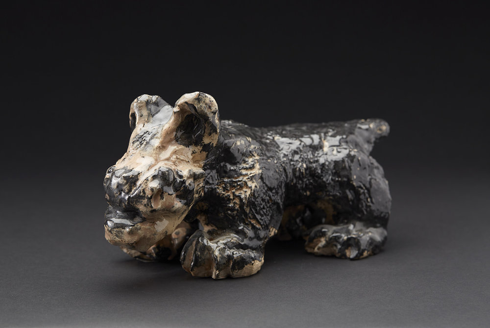 David Parsons    Untitled  , 2015 Ceramic 5 x 4 x 10 inches 12.7 x 10.2 x 25.4 cm DPa 2
