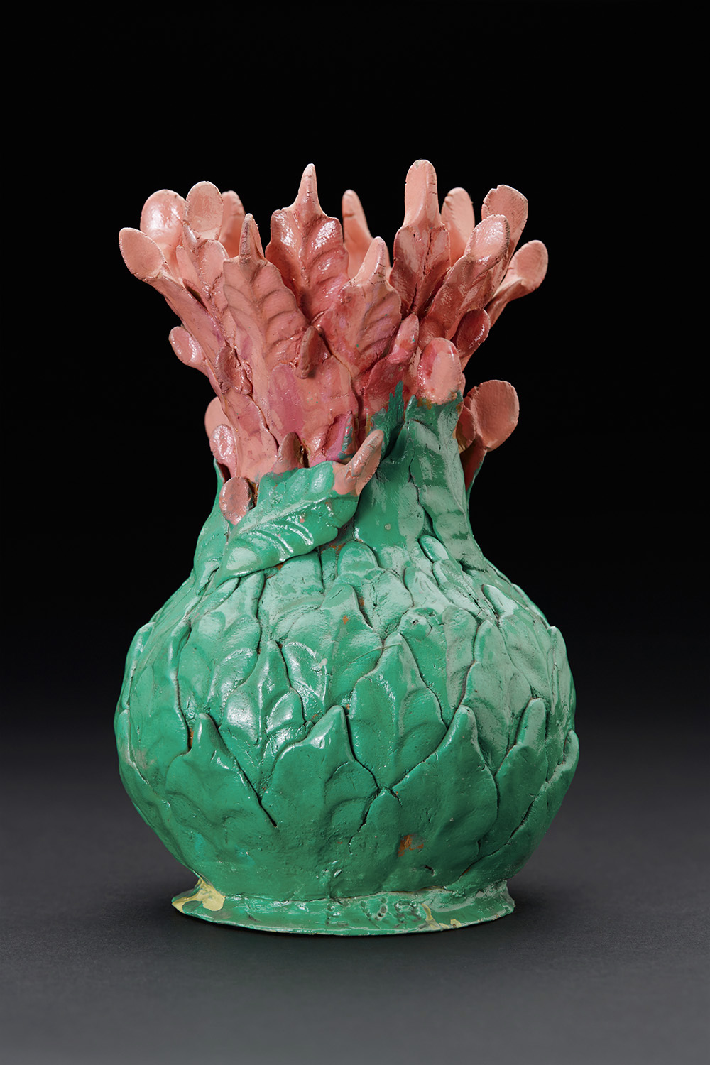Eugene Von Bruenchenhein    Untitled  , 1960-1980 Hand dug clay and paint 7 x 4.5 x 4.5 inches 17.8 x 11.4 x 11.4 cm EV 47