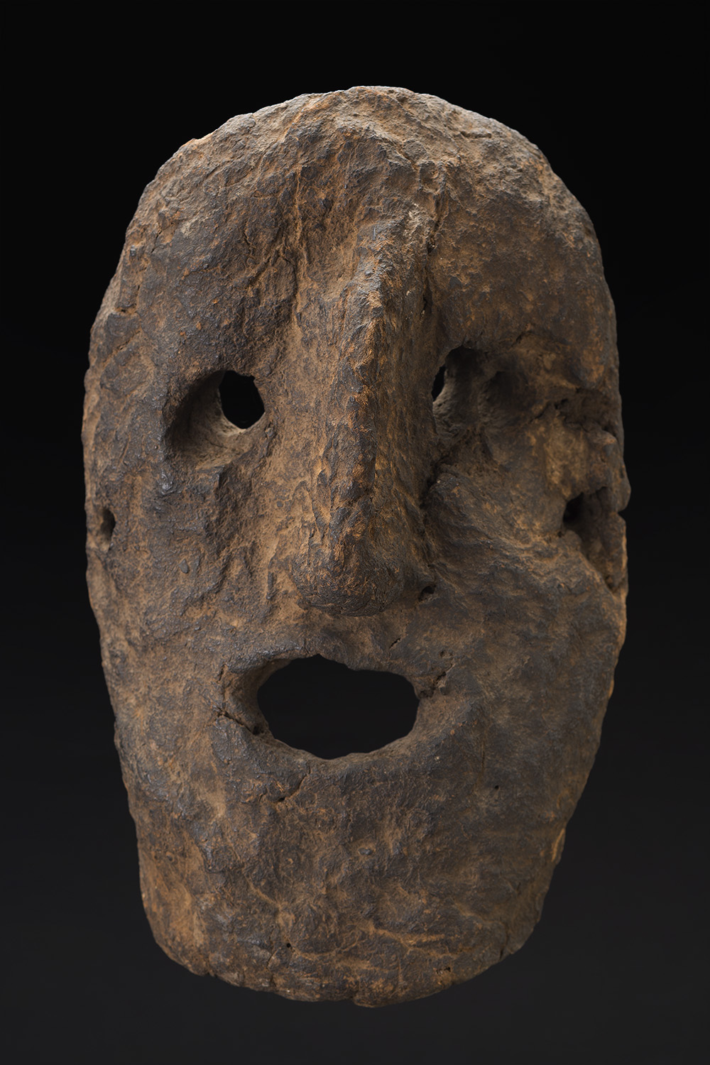 Masks    Nepal  , Mid 20th C. Cow dung, clay, organic materials 11.5 x 7 x 4 inches 29.2 x 17.8 x 10.2 cm M 201