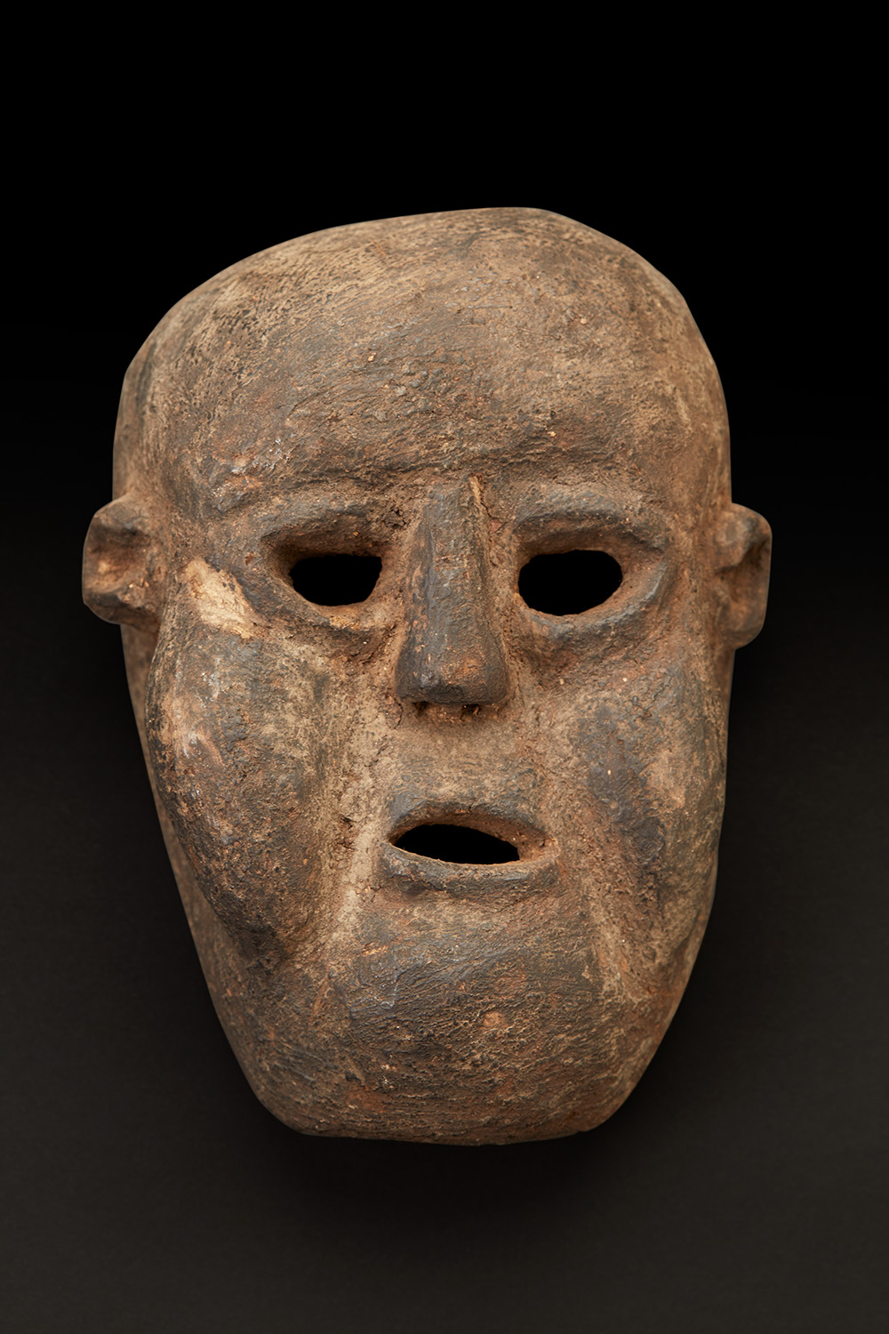 Masks    Nepal  , Early to mid 20th C. Cow dung, clay and plant material 8.5 x 6.5 x 3.5 inches 21.6 x 16.5 x 8.9 cm M 355