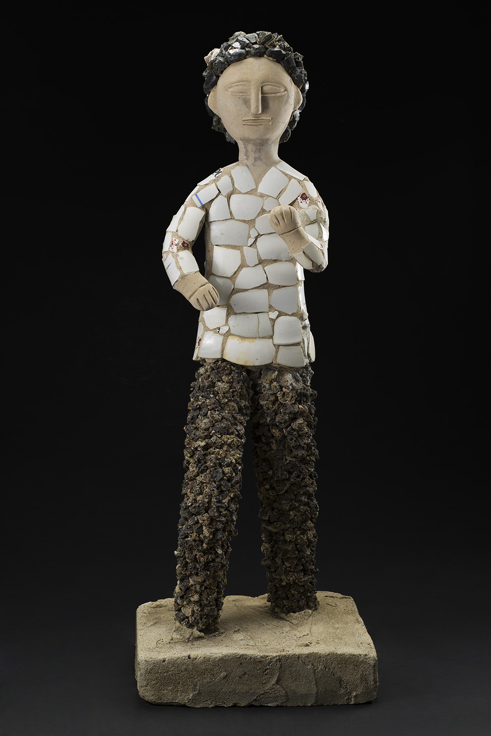 Nek Chand    Untitled  , 1950-1980 Concrete over metal armature with mixed media 34 x 12 x 12 inches 86.4 x 30.5 x 30.5 cm NC 10