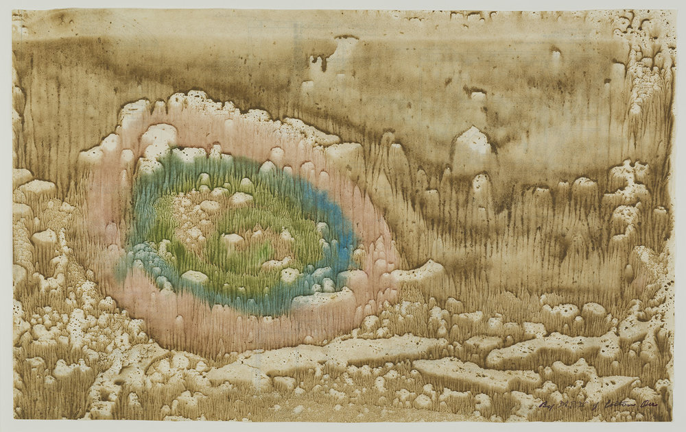 Melvin Edward Nelson    Untitled  , c. 1961-1965 Mineral Pigment on Paper 13 x 20.5 inches 33 x 52.1 cm Nel 51