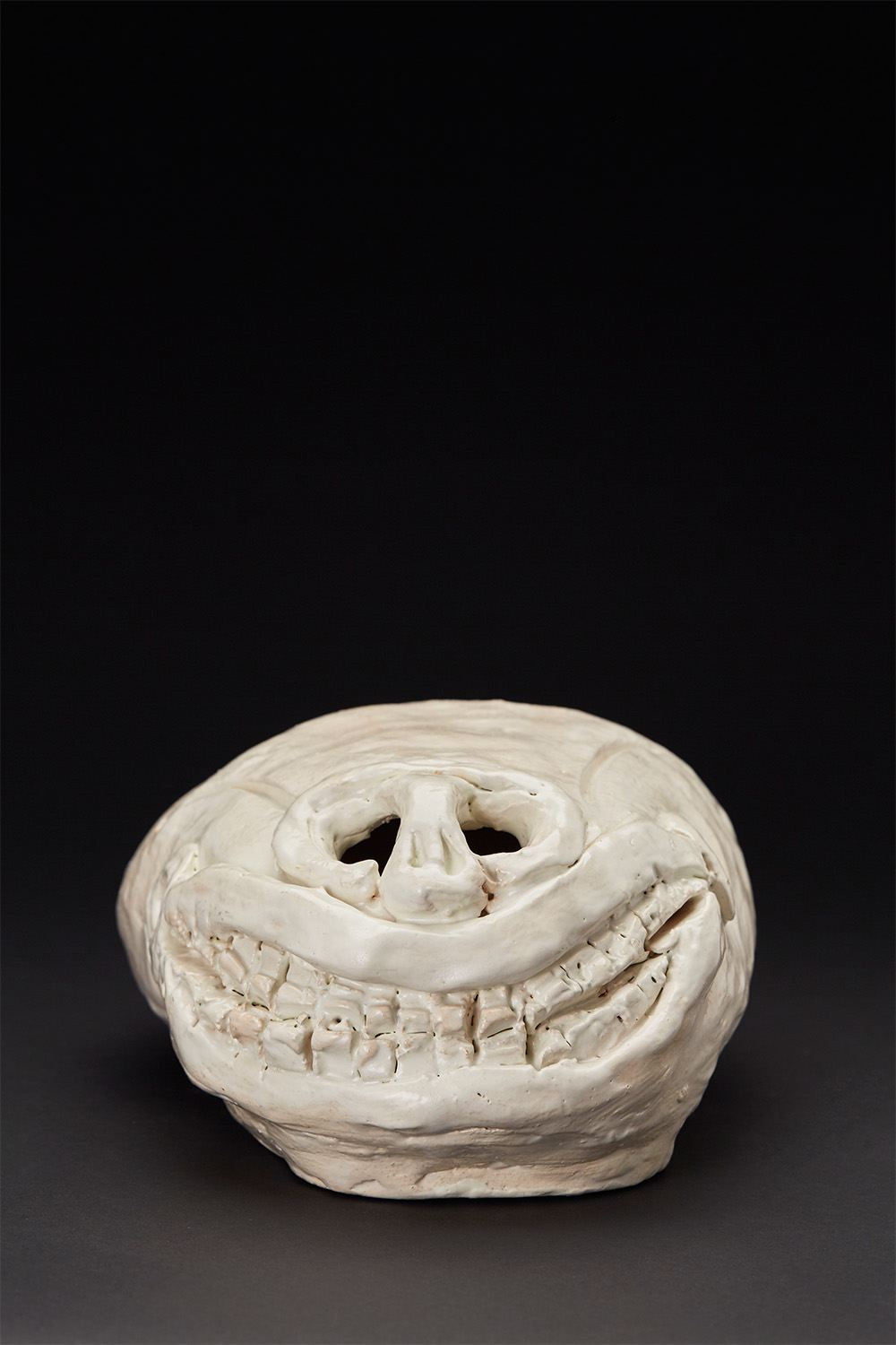 Ricardo Estella    Skull I  , 2013 Glazed ceramic 6 x 10.25 x 8 inches 15.2 x 26 x 20.3 cm REs 1