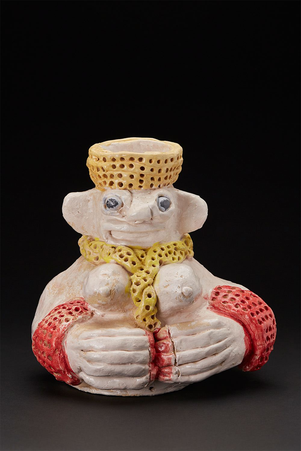 Ricardo Estella    Maya  , 2011 Glazed ceramic 10 x 10 x 8 inches 25.4 x 25.4 x 20.3 cm REs 4