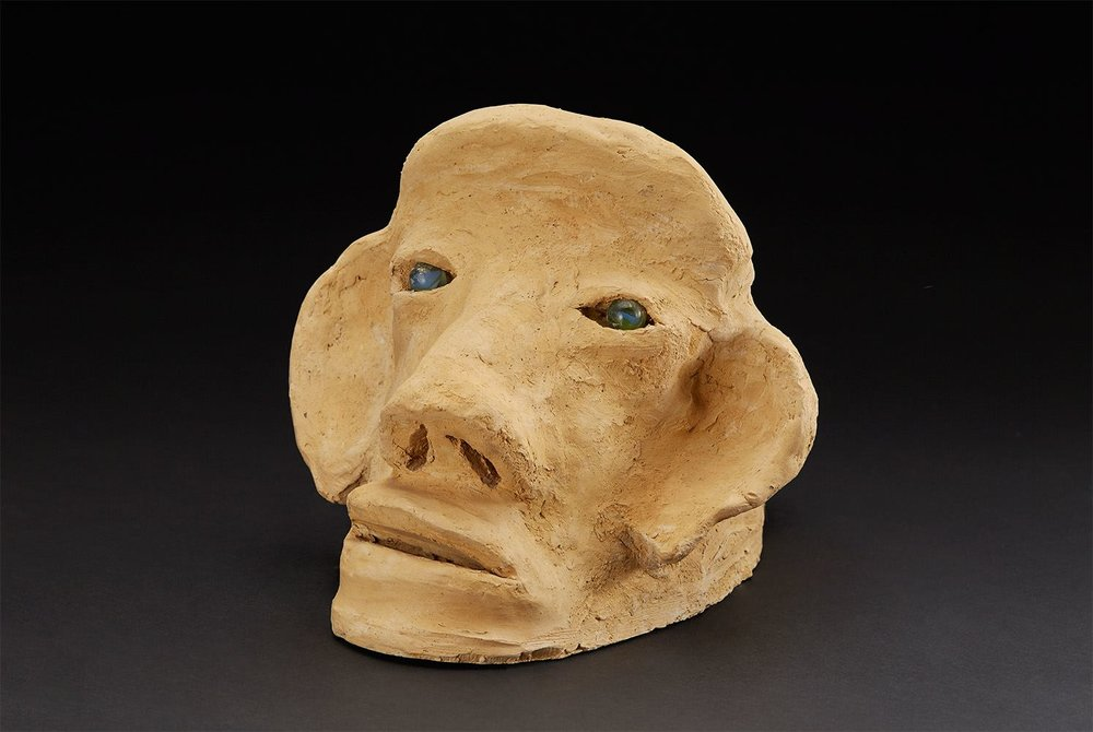 Burgess Dulaney    Double Head  , circa 1970-1989 Clay, marble 8.5 x 11.5 x 9.5 inches 21.6 x 29.2 x 24.1 cm BDu 3