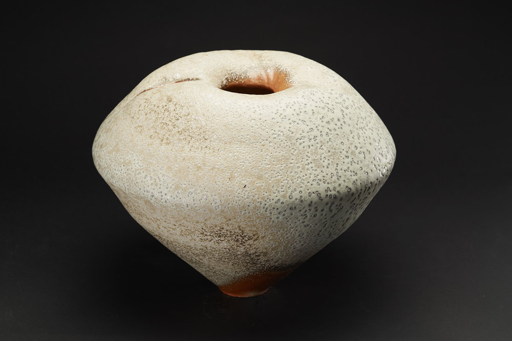 Gail Nichols    Shouldered Jar  , 2006 Soda glaze/stoneware 12 x 16 x 15 inches 30.5 x 40.6 x 38.1 cm GaN 15