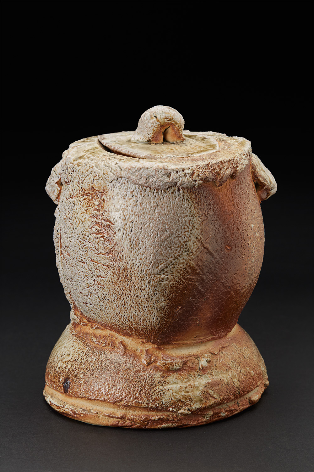 John Dix    Mizusashi  , 2006 Natural ash glaze/woodfired ceramic 10 x 7.5 x 7 inches 25.4 x 19.1 x 17.8 cm JDix 5