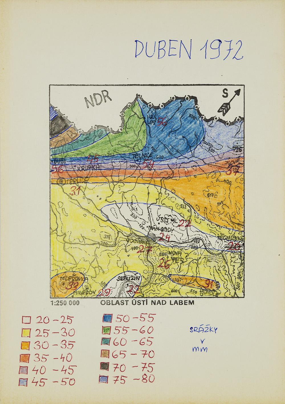 Zdenek Kosek    Duben 1972  , c. 1991 Ballpoint pen/ marker, paper 8.25 x 6 in (21.0 x 15.2 cm) ZKo 70