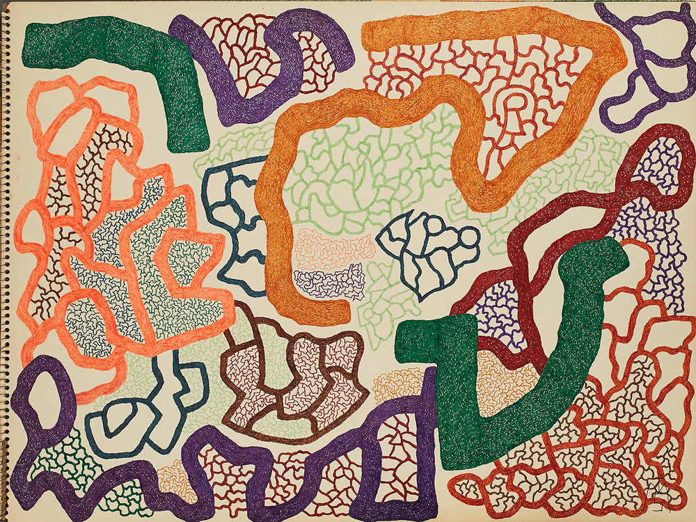 Matthew I Smith    Untitled (abstract)  , 1972 Marker on paper 18 x 24 inches 45.7 x 61 cm MIS 119