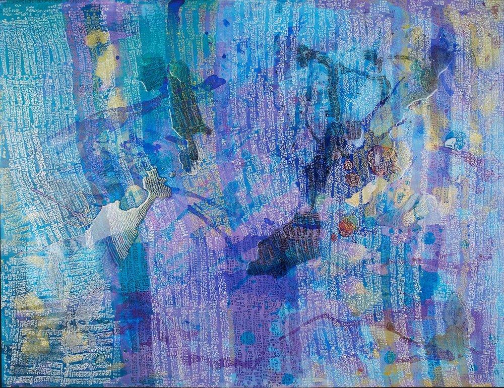 Ryuhei Shibata,   Title deleted  , 2015, Gel pen, acrylic on Japanese paper, 44.41 x 57.72 inches, 112.8 x 146.6 cm, RtSh 3
