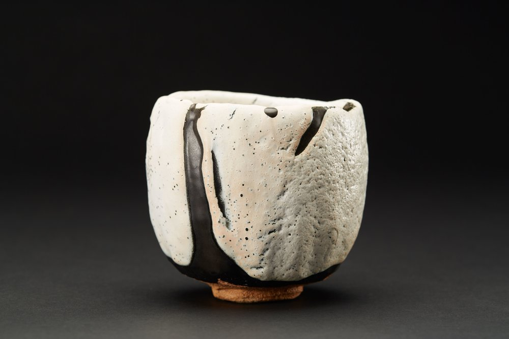 Robert Fornell    Oribe Chawan  , 2011 Woodfired Ceramic 4.25 x 4.25 x 4 inches 10.8 x 10.8 x 10.2 cm RFo 25