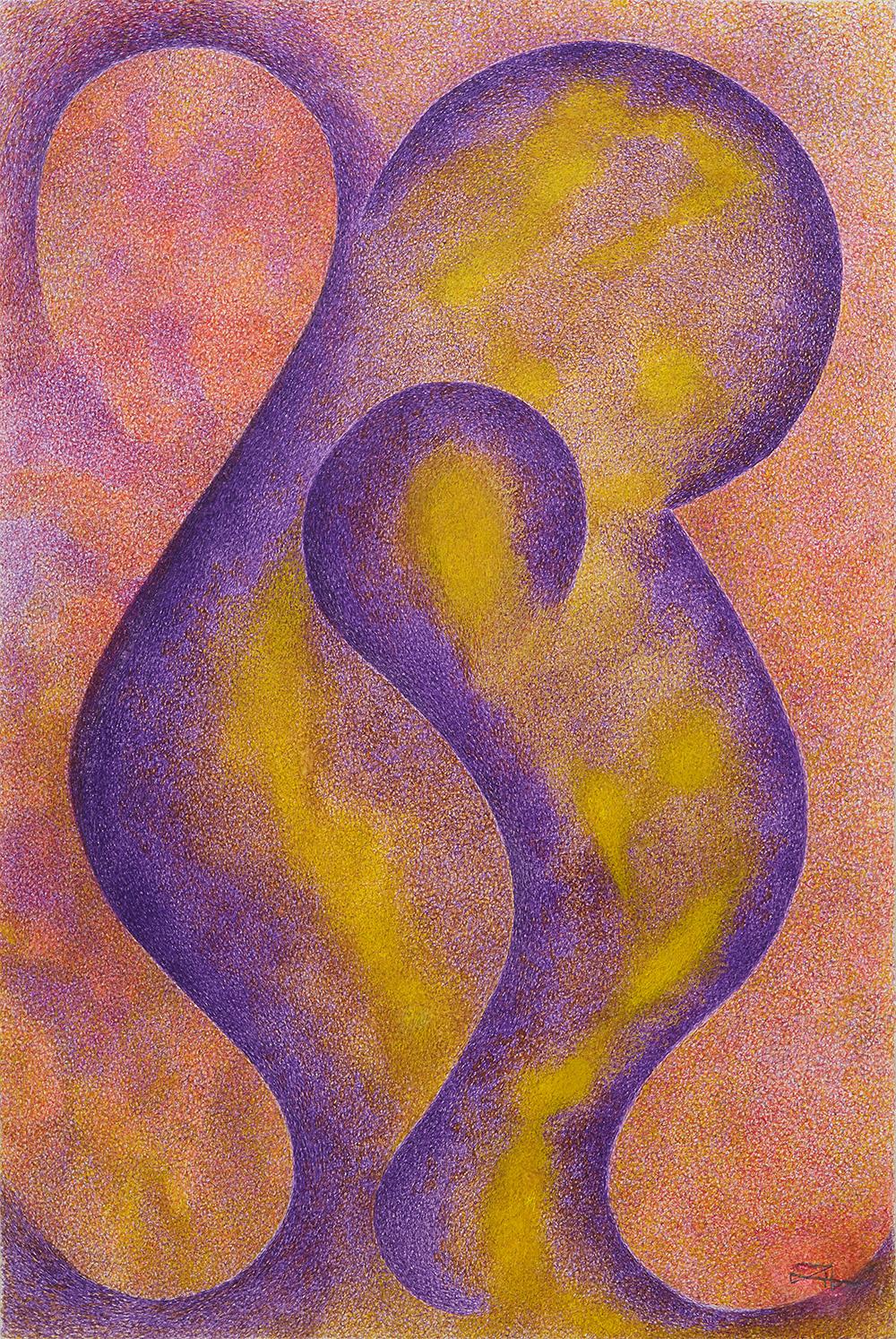 Henriette Zéphir    La Flamme Violette  , 2006 Ink on paper 19 x 12.5 inches 48.3 x 31.8 cm HZe 19