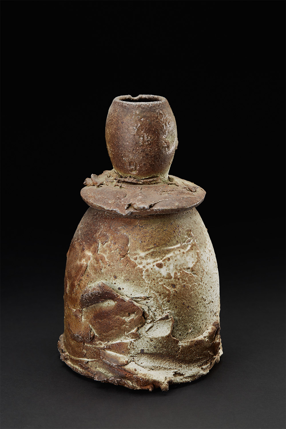 Drew Nicklas    Lidded Jar  , 2010 Soda fired 9.5 x 5.25 x 6.5 inches 24.1 x 13.3 x 16.5 cm Drn 3