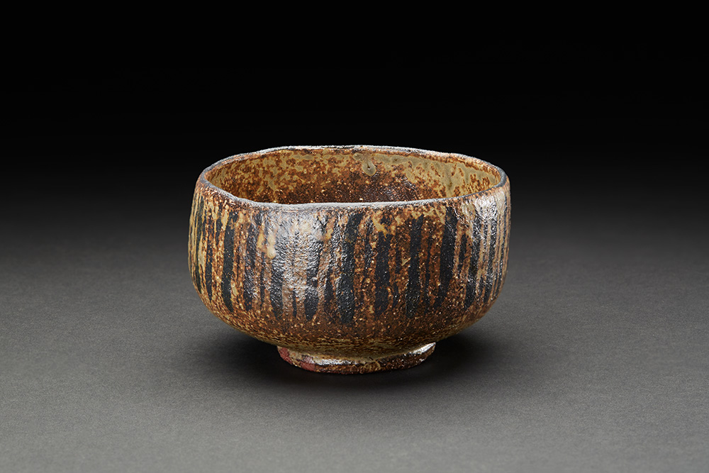 Akira Takeuchi    Mugiwarade Chawan  , 2018 Red clay, iron painting, ash glaze, electric kiln firing 4.75 x 4.75 x 2.75 inches 12.1 x 12.1 x 7 cm TaA 1