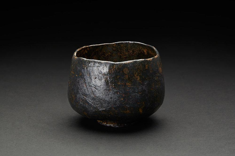 Akira Takeuchi    Tetsuyu Chawan  , 2018 Mogusa clay,red clay, iron glaze, electric kiln firing 4.25 x 4.25 x 3.25 inches 10.8 x 10.8 x 8.3 cm TaA 3