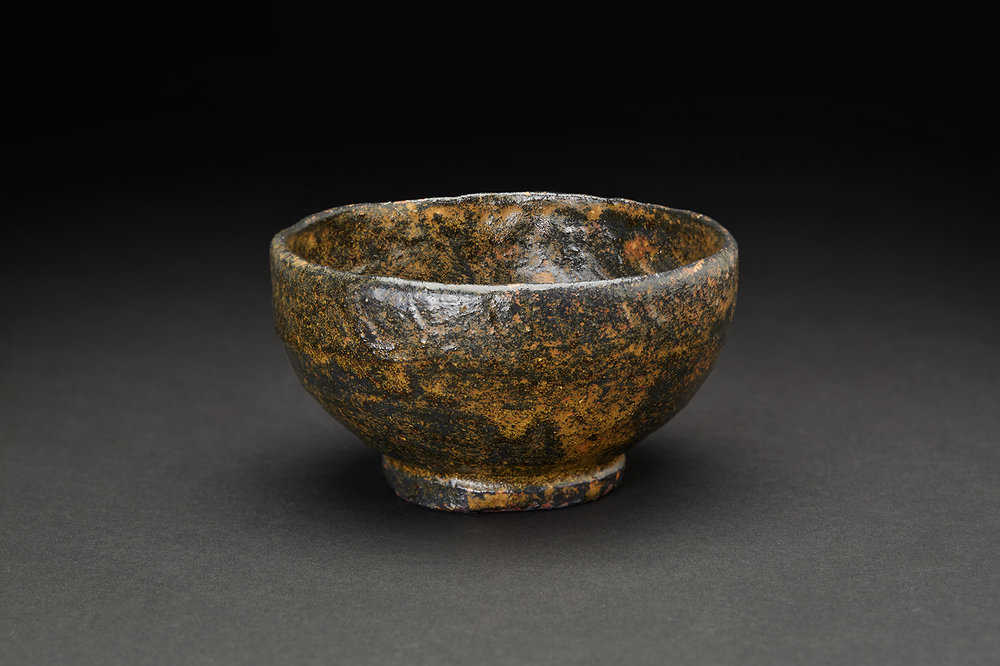 Akira Takeuchi    Matcha Tea Bowl  , 2018 Mogusa clay, red clay, iron glaze, electric kiln firing 5 x 5 x 2.5 inches 12.7 x 12.7 x 6.4 cm TaA 6