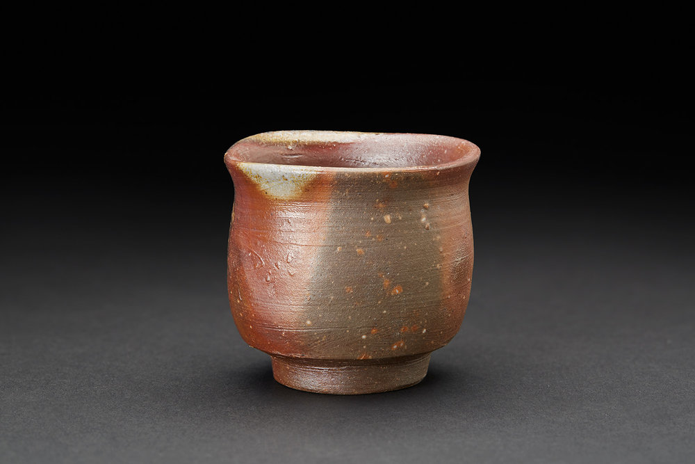 Mitsuru Isezaki    Bizen Guinomi (SOLD with tokkuri as set)  , nd Woodfired Ceramic 2.25 x 2.5 in  (5.7 x 6.3 cm) Signed On Bottom Ise 4