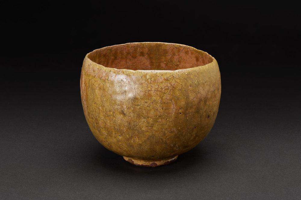 Akira Takeuchi  Chawan  , 2018 Mogusa clay, red clay, iron glaze 4 x 5 x 5 inches 10.2 x 12.7 x 12.7 cm TaA 10