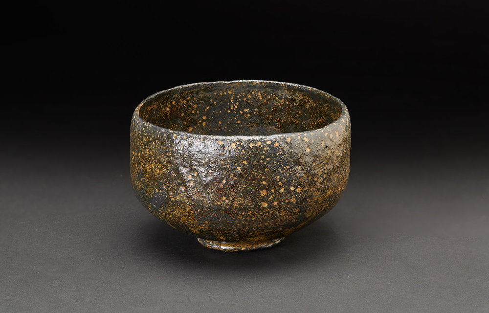 Akira Takeuchi  Chawan  , 2018 Mogusa clay, red clay, iron glaze 3.25 x 5.25 x 5.25 inches 8.3 x 13.3 x 13.3 cm TaA 11